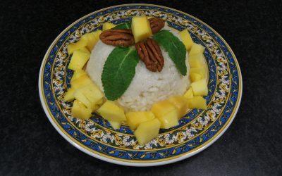 Kleverige kokosrijst met mango
