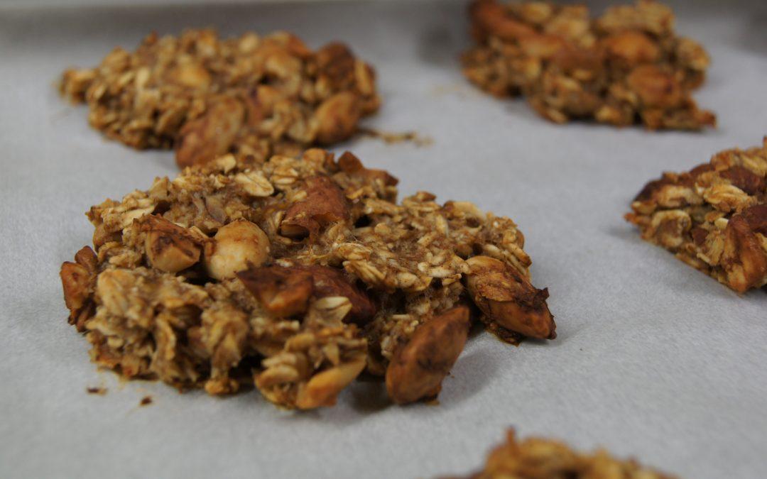 Havermout-banaan koekjes