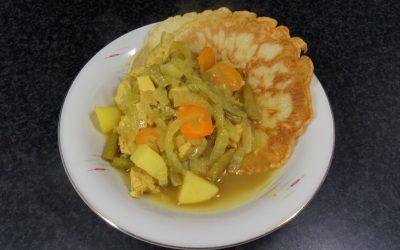 Roti met kip-kerrie