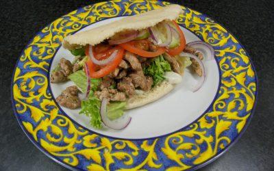 Grieks gekruide schnitzelreepjes