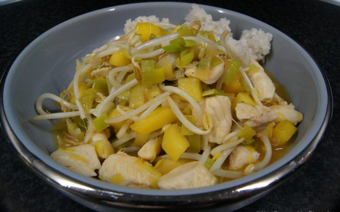 Kip met mango