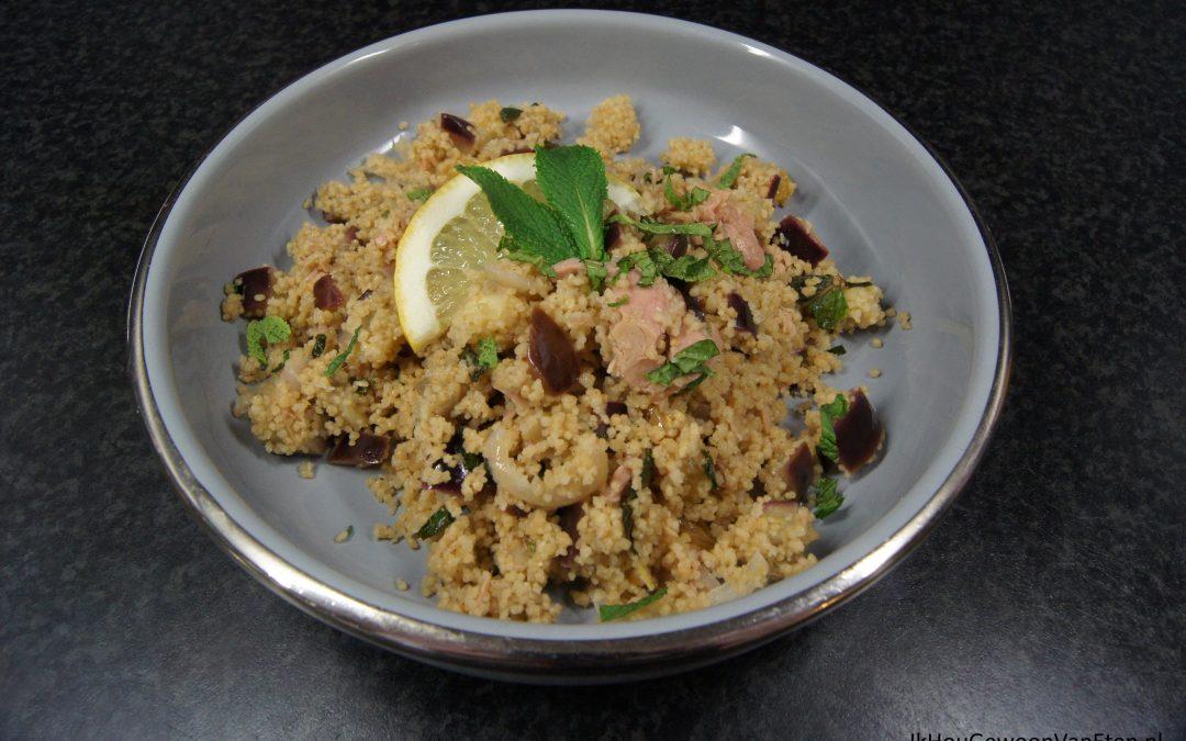 Couscous met aubergine en tonijn