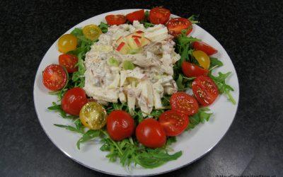 Salade met makreel en appel