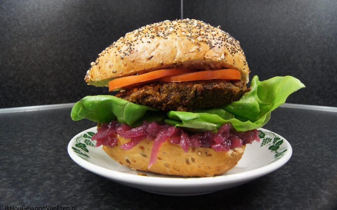 Pompoen-pecanburger