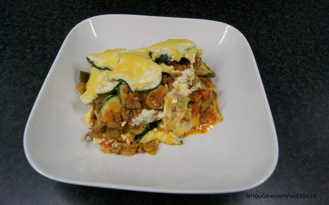 Koolhydraat-arme lasagne