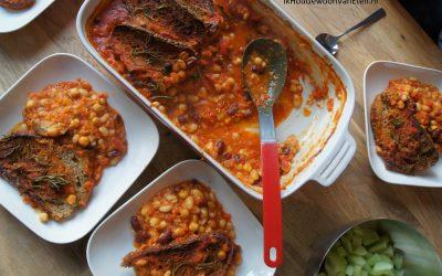 Bonen in tomatensaus (uit Jamie's nieuwste boek!)