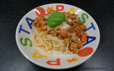 Spaghetti Bolognese met Tempeh