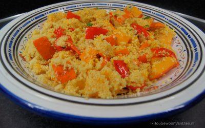 Couscous met geroosterde pompoen en paprika
