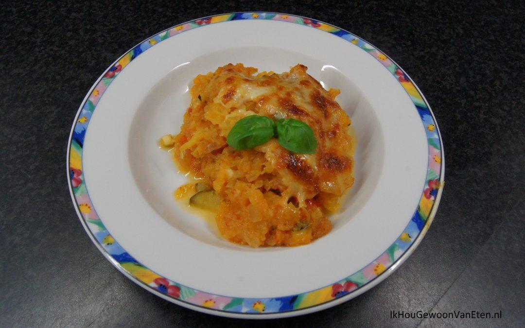 Spaghettipompoen met tomatensaus