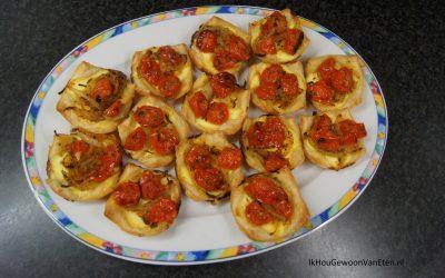 Mini tomatentaartjes