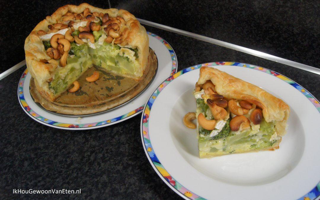 Broccolitaart met camembert en cashewnoten