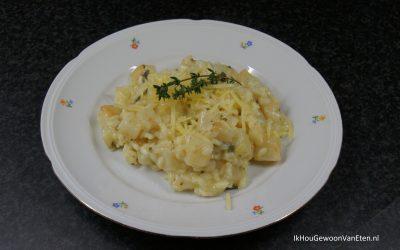 Schorseneren-knolselderij risotto