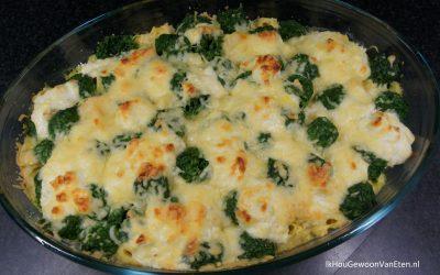 Tortellini-spinazie ovenschotel