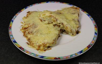 Kool-omelet met kaas