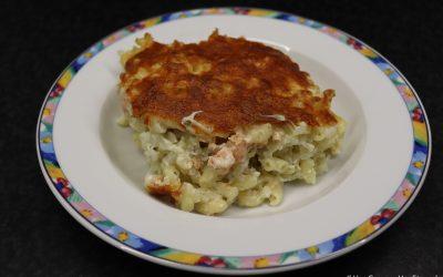 Macaroni met bloemkoolrijst en zalm