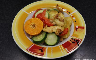 Traybake met mosterdkip en mandarijn