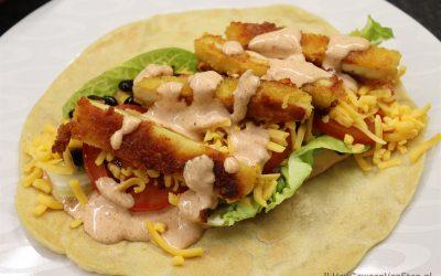 Tortilla met krokante kip