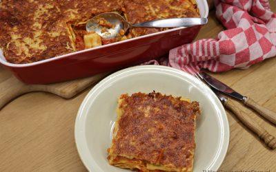 Lasagne met instant vegan gehakt