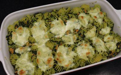 Spinazie-zalm pastaschotel