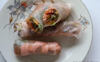 Spring rolls met warmgerookte zalm