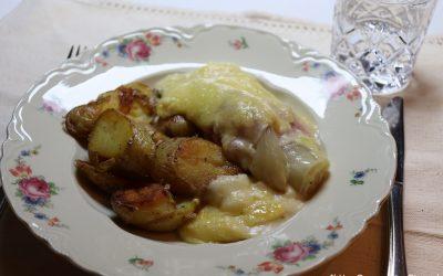 Witlofrolletjes met ham en kaas