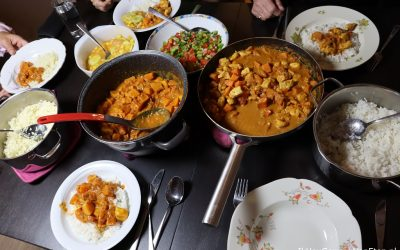 Kipcurry met zoete aardappel én curry met pompoen en pastinaak